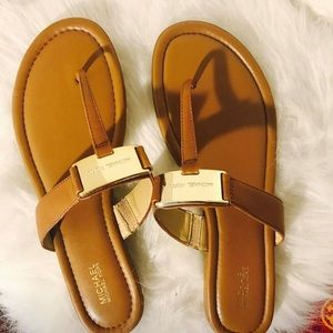 Micheal Kors Leather Sandals